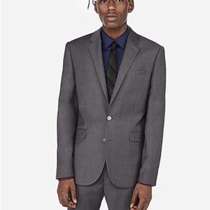 Extra Slim Gray Flannel Wool-Blend 365 Comfort Sui